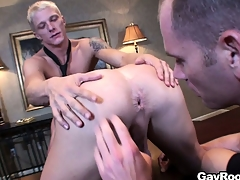 Respectful Marc Dylan participates in ass-licking joyous show with interesting guys