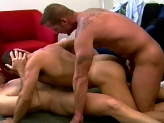 Muscular unconcerned fuckers set a wild threesome