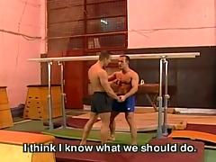 Gay fuck dissemble at gym