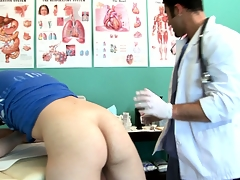 Twink goes prevalent for an third degree added to gets his ass checked out by the doctor