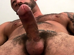 Old bear needs some proper prostate massage to realize his dick rock-hard