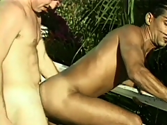 Naughty male couple crop up buy the pool be valuable to some XXX asslicking