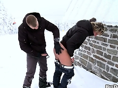 European twinks get freaky in the air some outdoor sex during winter