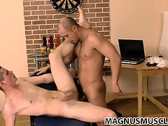 Danko and Niko are banging bore and both cum together, dovetail kiss