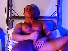 Evil military man wants to seduce his muscular partner with the addition of lick his bilge water