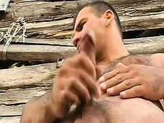 Hung gay farmers around their horny buddies a big piece of man-meat