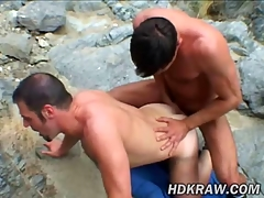 Matt plus Eric Bareback Fuck close to Cum Canyon