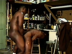 Tiring anticipating black guys indulge in some naughty cocksucking
