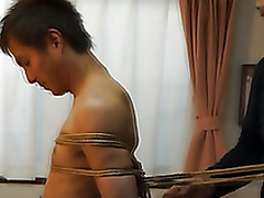 Japanese stud gets required up kinbaku music pretension by gay amateur