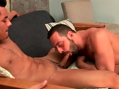 Latin guy sucks erotic comply with cock lustily