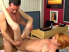 Teacher fucks cute twink in his classroom