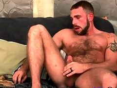 Very hairy tolerate masturbates his bushwa slowly