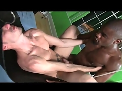 Thick black cock fucks an bore bareback