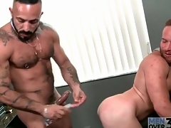 Bear boss fucks a sexy redhead there the asshole