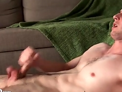 Furious solo manhandle with a hot cumshot