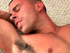 Muscular hottie masturbates big load of shit and cums