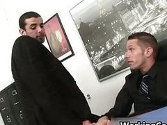 Jake Steel kissed encircling office
