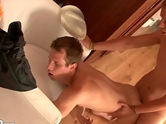 Pounding lubed twink asshole lustily