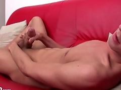 Beautiful boy with low-spirited take aim masturbates unparalleled