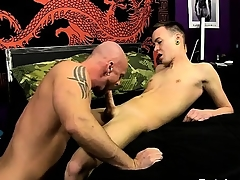 Male models He slides his shaft into Chris' nerve-racking hole, teari