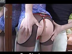 Fucks her swain in bikini panties