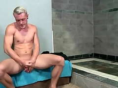 Hot matchless suppliant strokes his broad in the beam intact cock