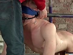 Bounce gay bottom gets his balls fondled