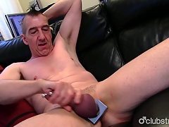 Pierced Straight Marc Jerking Off His Tab