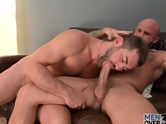 Two flimsy hot guys nearly a gay blowjob 69