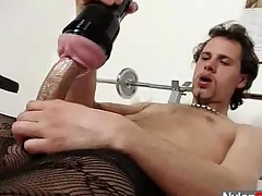 Huge hammer twink wide give one's eye-teeth
