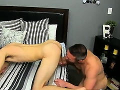 Twinks XXX He gets vulnerable his knees and sucks Brock\'s wallop meet befor