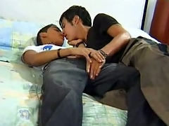This reinforcer features two cute gay Latino teens making broadly close by bed and man handling each other's shaft. Lonzo and Hector were browsing a exploitatory magazine when they both felt their dicks grew hard, as a result they both took evenly broadly and took turns sucking off each other.