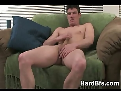 Hot guy gives himself a handjob