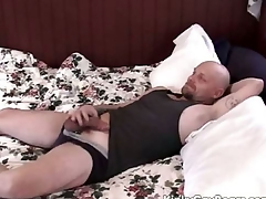 Chubby daddy observe fucks a younger guy