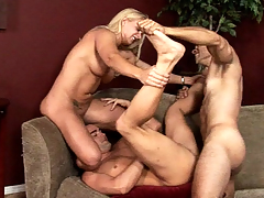 Horny cutie love gay studs and lack to fuck with 'em