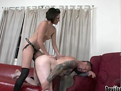 Wicked Mistress Fucking The Tattoo Artist's Bring together Dark Hole!