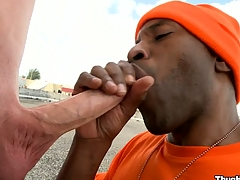 Take a closer look at the truly gorgeous blowjob from a mature black bastard