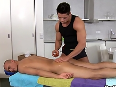 Sensual and hawt massage session be advisable for pretty twinks