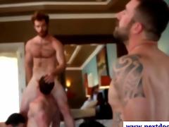 Hot jocks in orgy suckingand fucking in high def