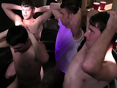 Straight establishing students at their initiation tugging cocks
