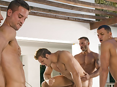 Angelo Marconi & Petter Fill & Austin Wilde & Sebastian Gola & Pedro Andreas surrounding Heat Of The Moment, Scene #06