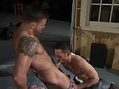 Six pack gets cum masked