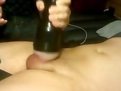 Jerking a buddy with a fleshlight