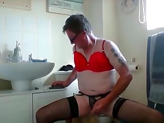 sissy ken wanks with euphonic bar