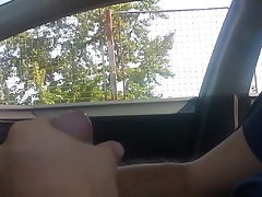 Masturbation in car...she take a consenting look