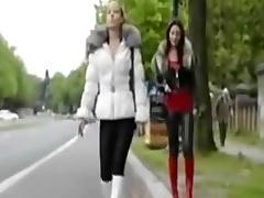 crossdresser on someone's skin parking place