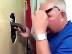 Gloryhole Large Rod Busting His Fiend