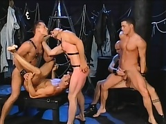Five gays find some luring positions to paroxysm dick and bang ass