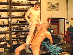 Two hot with the addition of horny gays pound ass with the addition of blow before their shift