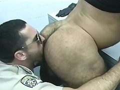 Cop gets very many of the prisoners to give him head and bang some bore
